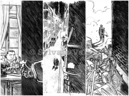 Recherches crayonnées pour la couverture du tome 1 d'Il était une fois en France
